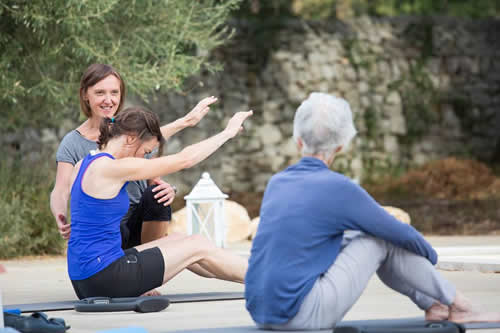 Pilates retreat class